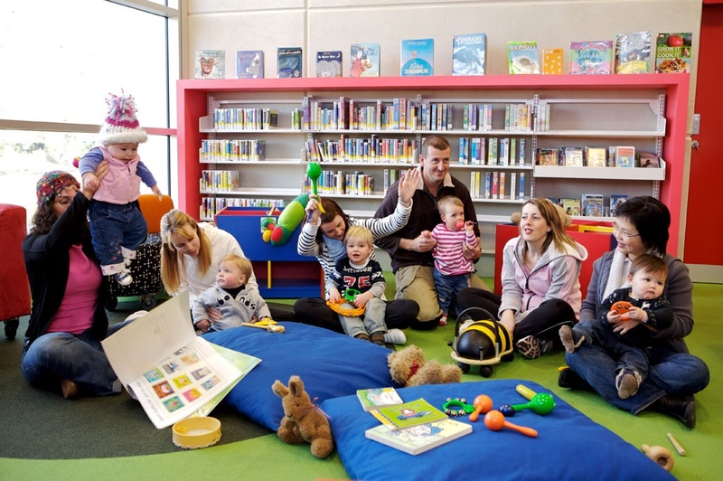 Books, reading, stories, rhymes, singing, instruments, care givers, parents  