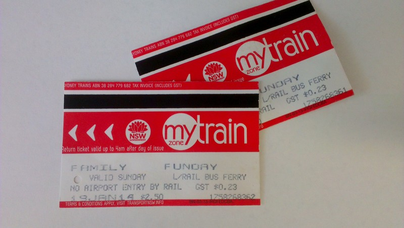 Sydney Train, Train Ticket, Sydney Family Funday Sunday