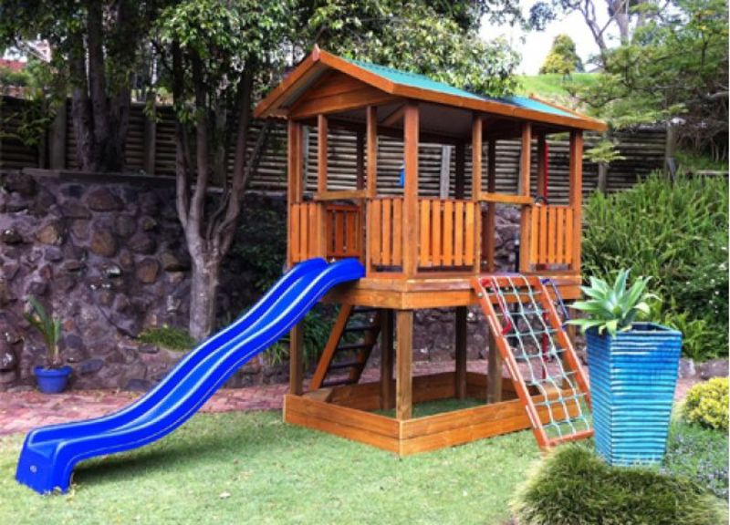 A childrens outdoor playground