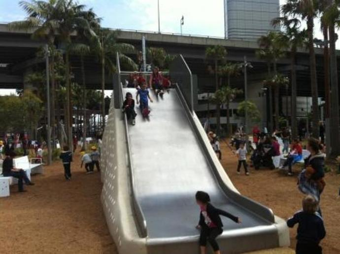 Big Slide at Darling Quarter Playground