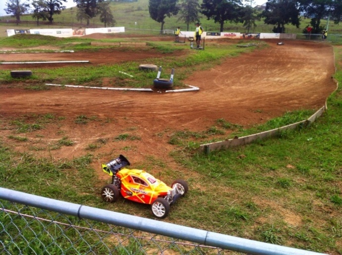 Car, radio control car, race track, dirt, track, acres, open day, toy cars