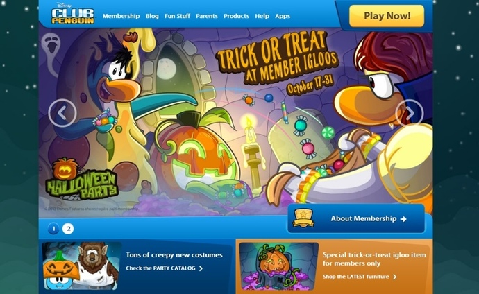 Club Penguin, Fun websites for kids, fun online games for kids