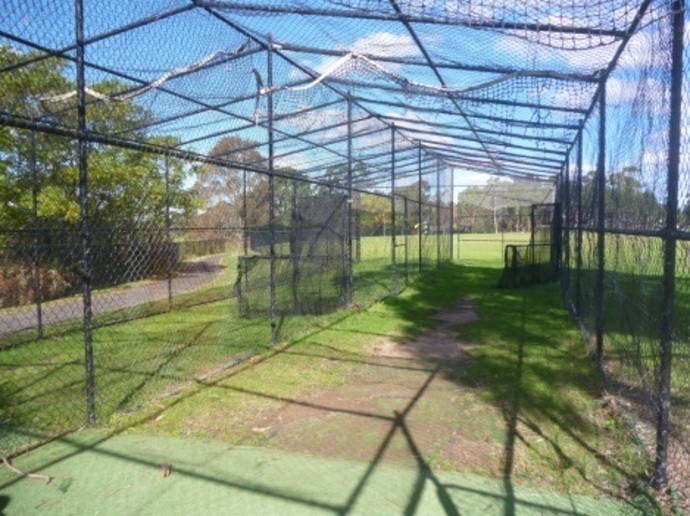 golden jubilee field, sportsgrounds, wahroonga, ovals in wahroonga, baseball, batting cages