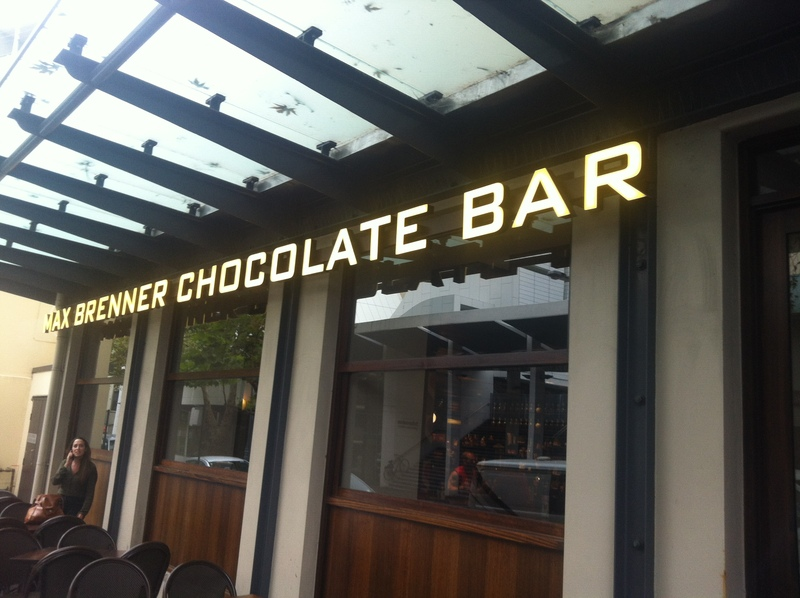 max brenner  - Max Brenner Chocolate Bar Ultimo