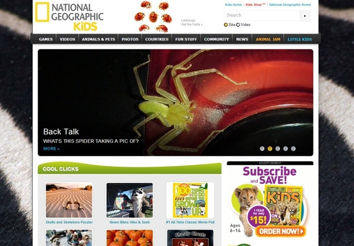National Geographic for Kids, Fun websites for kids, fun online games for kids