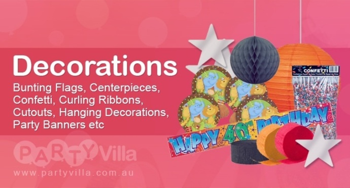 Poster, party, banner, colours, blue, decorations, balloons