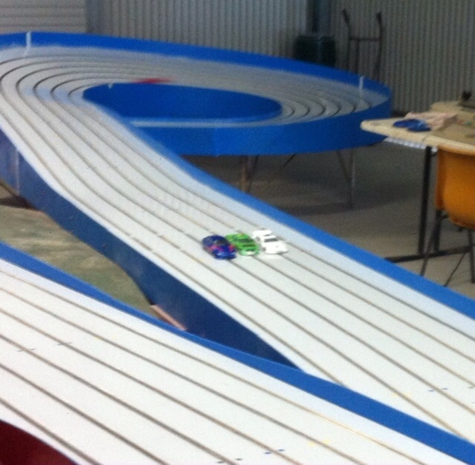 Slot car, slot car track, racing, radio controlled, speed, hire, for hire