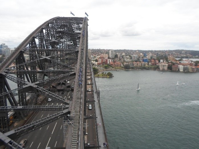 sydney harbour bridge, sydney harbour, pylon lookout, harbour bridge lookout