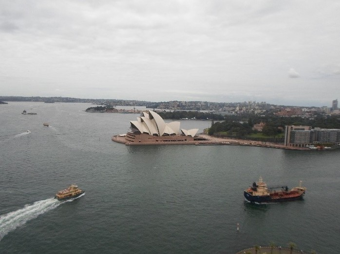 sydney opera house, pylon lookout view